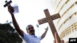 Bu gün Qahirədə zorakılıqlar nəticəsində həlak olan xristianların dəfn mərasimi keçirilib