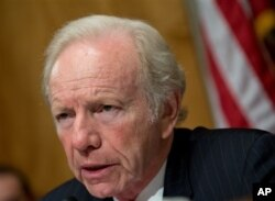 Senator Joe Lieberman during a Senate hearing in Washington, September 19, 2012.