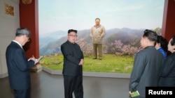 Kim Jong Un, Musée de la révolution coréenne, Pyongyang, le 28 mars 2017.