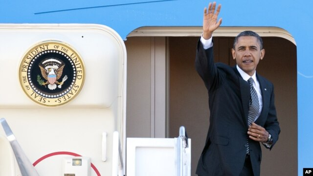 Presidente Obama à partida para périplo asiático