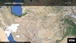Map of Ghazni, Afghanistan