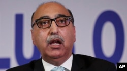 FILE - India summoned Pakistani High Commissioner Abdul Basit in New Delhi on Sept. 27, 2016, and presented him with what it said was proof of Pakistan's involvement in the militant strike on an Indian army base in Kashmir.