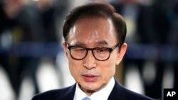 南韓前總統李明博資料照。