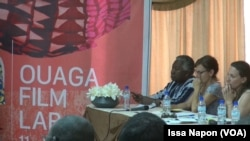 Une partie du jury du ''Pitch'', à Ouagadougou, le 24 septembre 2017. (VOA/Issa Napon)