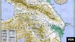 Cənubi Qafqaz regionunun xəritəsi