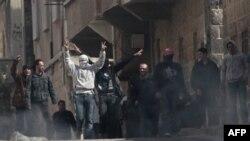 Антиправительственная демонстрация в Дараа