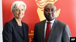 International Monetary Fund chief Christine Lagarde, left, and Donald Kaberuka, president of the African Development Bank. (AP)