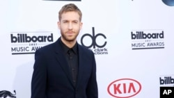 Calvin Harris arrives at the Billboard Music Awards at the MGM Grand Garden Arena on May 17, 2015, in Las Vegas.