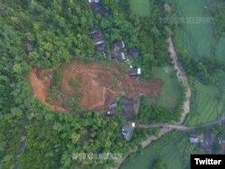 Sebanyak 16 orang masih dalam pencarian pascalongsor yang terjadi di Desa Ngetos, Kecamatan Ngetos, Kabupaten Nganjuk, Provinsi Jawa Timur. Peristiwa tersebut terjadi pada Minggu (14/2), pada 18.30 WIB.(Foto: Twitter/BNPB)