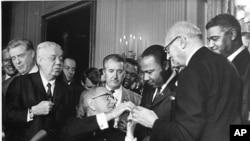 Civil Rights Bill Signing
