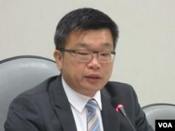 台灣在野黨民進黨立委蔡其昌。(美國之音張永泰拍攝)