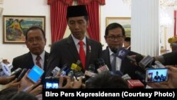 Presiden Jokowi di Istana Negara Jakarta mengutuk keras tindakan penyiraman air keras yang menimpa penyidik KPK Novel Baswedan Selasa 11 April 2017. Foto Biro Pers Kepresidenan