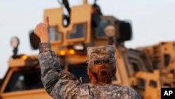 Une militaire américaine en Irak, 18 décembre 2011.
