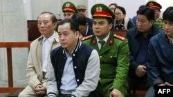 Vũ 'Nhôm' trong phiên tòa hôm 30 tháng Giêng, 2019, tại Hà Nội.