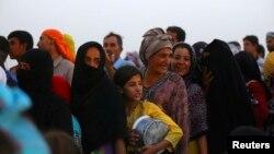 Penaberên Îraqî li kampeke Kurdistanê.