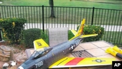 裝滿塑料爆炸物的遙控飛機