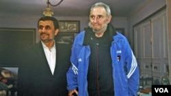 En Cuba, Ahmadinejad se reunió con Fidel Castro, el pionero de los aliados de Irán en A.Latina.