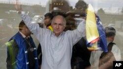 Antonio Ledezma ingresó oficialmente a territorio colombiano en la mañana del viernes.