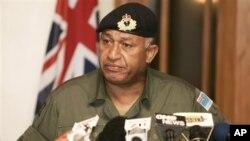 Kepala pemerintahan sementara Fiji, Komodor Frank Bainimarama yang berkuasa setelah kudeta berdarah bulan Desember 2006 (foto: dok.)
