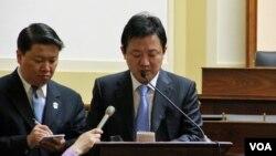 탈북자 출신으로 영화 '48M'의 제작을 맡은 안혁 (주)48M 대표(오른쪽).