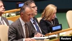Jonathan Cohen, ambassadeur adjoint américain à l'ONU, New York, le 16 octobre 2018.