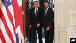 صدر اوباما اور وزیر اعظم کیمرون
