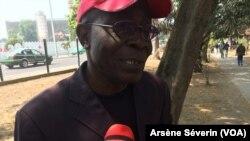 Casimir Ngakala, parent de victime du drame du commissariat de Chacona, à Brazzaville, le 11 mai 2018. (VOA/Arsène Séverin)