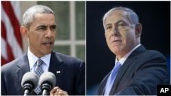 Le président américain Barack Obama à gauche et le premier ministre israélien Benjamin Netanyahu. Source : AP