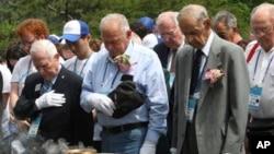지난 2013년 6월 서울에서 열린 한국전 발발 63주년 기념행사에 한국전 참전 미군 장병들이 참석했다. (자료사진)