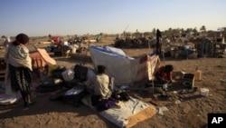 Wasu 'yan gudun hijirar rikicin yankin Abyei kenan.