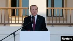 FILE - Turkey's Prime Minister Tayyip Erdogan.