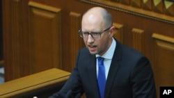 Ukraina bosh vaziri Arseniy Yatsenyuk