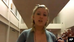 Elsa Vande Vegte's video submission is a favorite of the GMU admissions staff.