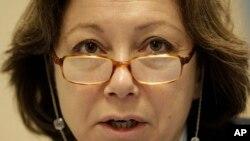 Bà Bassma Kodmani, phát ngôn viên của Hội Đồng Quốc Gia Syria