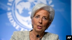 Christine Lagarde, Washington, le 14 avril 2016.