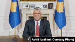 Predsednik Kosova Hašim Tači tokom obraćanja naciji iz svog kabineta, 29. juna 2020. (Foto: Astrit Ibrahimi)