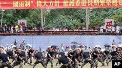 中國駐港部隊格鬥表演