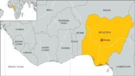Map of Nigeria, Africa