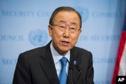 FILE - United Nations Secretary General Ban Ki-moon.