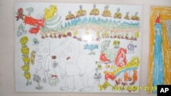 赵连海六岁儿子赵鹏瑞的画