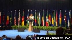 Michelle Obama na Cimeira Yali, Washington, Julho 30, 2014