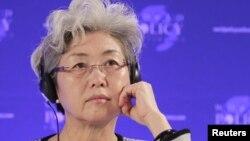 푸잉 중국 외교부 부부장. (자료사진)