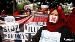 په سلگونو خلکو په اندونیزیا کې د روهینگیا په ملاتړ مظاهره وکړه