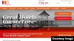洲际酒店集团网站截图