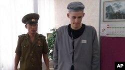 美国公民米勒开始在朝鲜的劳教生活
