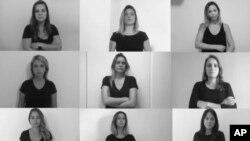 En esta imagen, tomada de un video el 9 de julio de 2018, reporteras deportivas de Brasil denuncian el sexismo y el acoso que sufren ejerciendo su trabajo, en Rio de Janeiro, Brasil. Las periodistas lanzaron una campaña para llamar la atención sobre su situación y crear presión para acabar con el sexismo y el acoso durante su trabajo, a menudo de parte de aficionados.