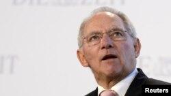 德國財政部長沃爾夫岡•朔伊布勒 (資料照片)