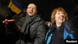 Верховний комісар ЄС з питань зовнішньої та безпекової політики Кетрін Ештон і лідер парламентської фракції «Батьківщина» Арсеній Яценюк