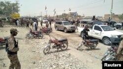 د بلوچستان ایالت په کویټه کې د برید صحنه