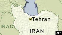 伊朗地理位置图 (美国之音档案照片)